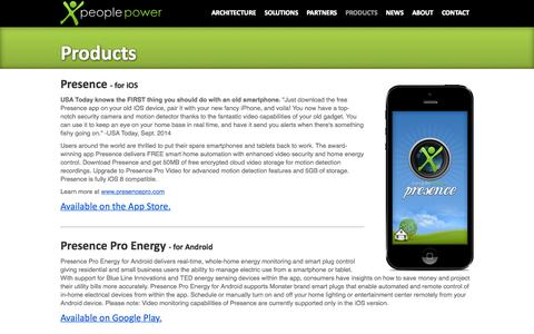 Screenshot of Products Page peoplepowerco.com - People Power Products - captured June 16, 2015