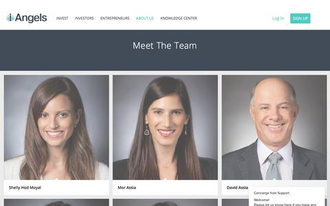 Screenshot of Team Page iangels.co - Team - iAngels - captured Sept. 20, 2018