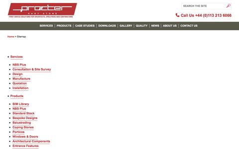 Screenshot of Site Map Page caststoneuk.co.uk - Procter Machineshop Guard & Machinery Guarding sitemap - captured Aug. 26, 2017