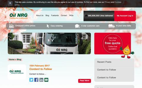 Screenshot of Blog oilnrg.co.uk - Blog - Oil NRG - captured Oct. 19, 2017