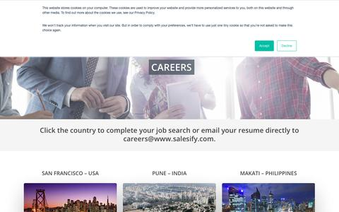 Screenshot of Jobs Page salesify.com - Salesify Careers - captured Nov. 19, 2018