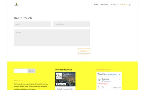 Screenshot of Contact Page thetreehouse.co - CONTACT - Treehouse - captured Sept. 6, 2017