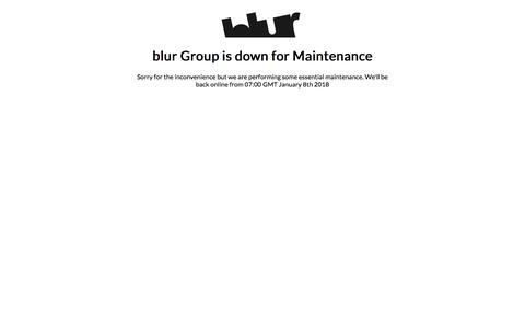 Screenshot of Login Page blurgroup.com - blur Group - Maintenance - captured Jan. 8, 2018