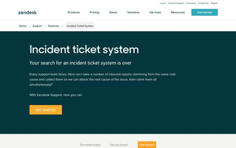 Screenshot of Support Page zendesk.com - Incident Ticket System | Zendesk - captured Aug. 4, 2018