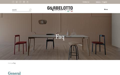 Screenshot of FAQ Page garbelotto.it - Frequently Asked Questions FAQ | Garbelotto - captured Oct. 25, 2018