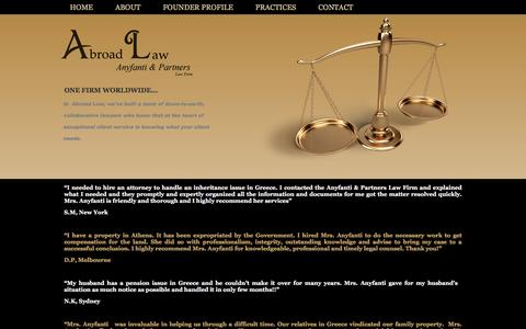Screenshot of Testimonials Page abroadlaw.com - New Page - captured Jan. 26, 2016