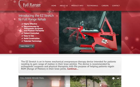 Screenshot of Home Page fullrangerehab.com - Welcome! | EZ Stretch by Full Range Rehab - captured Aug. 24, 2018