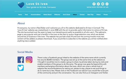 Screenshot of About Page love-stives.co.uk - About Love St Ives   St Ives - captured Oct. 18, 2018