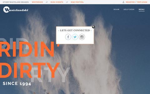 Screenshot of Menu Page wastelandski.com - Home – Wasteland Ski - captured Sept. 20, 2018