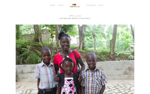 Screenshot of Blog haitibabi.org - Blog — Haiti Babi - captured July 18, 2015