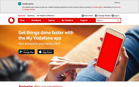 Manage your account on the go with the My Vodafone app.