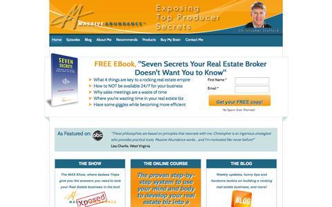 Screenshot of Home Page massiveabundanceinc.com - - Massive Abundance Exposed - captured Sept. 30, 2014