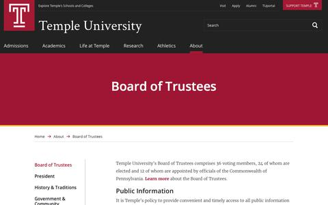 Board of Trustees | Temple University
