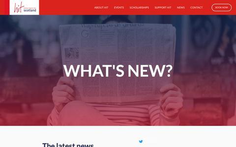 Screenshot of Press Page hitscotland.co.uk - HIT Scotland — News - captured Nov. 4, 2018