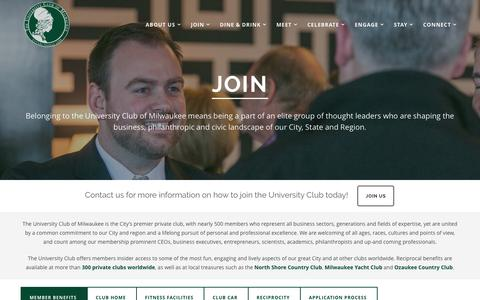 Screenshot of Signup Page uclubmke.com - University Club of Milwaukee  –  Join - captured March 15, 2016