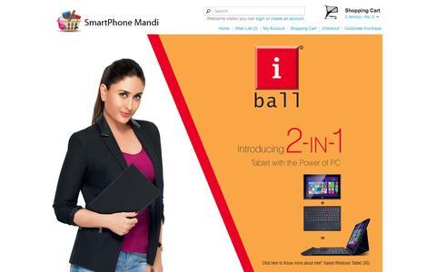 Screenshot of Home Page smartphonemandi.com - Smartphone Mandi - captured Jan. 30, 2015