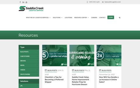 Transportation Archives - Saddle Creek Logistics Services
