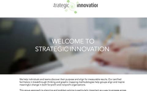 Screenshot of Home Page stratinnovation.com - Home | Strategic Innovation - captured Aug. 11, 2019