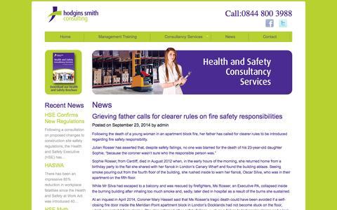 Screenshot of Press Page hodginssmithconsulting.com - Hodgins Smith Consulting Ltd :: News - captured Nov. 2, 2014