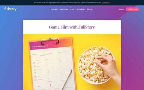 Screenshot of Case Studies Page fullstory.com - GameFilm with Us | FullStory - captured Feb. 5, 2020