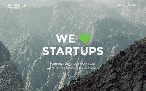 Screenshot of Home Page tenderloin.ch - Tenderloin Ventures - We <3 Startups - captured Aug. 14, 2015