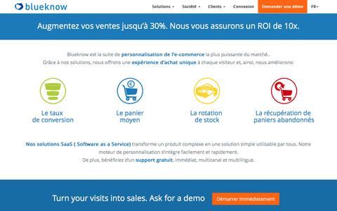 blueknow: suite de personnalisation multicanal pour e-commerce