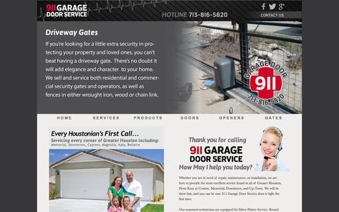 Screenshot of Products Page 911garagedoorservice.net - 911 Garage Door Service - captured Oct. 29, 2014