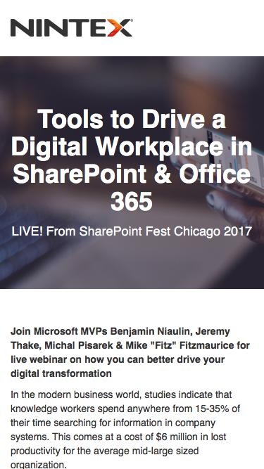 Tools to Drive a Digital Workplace in SharePoint & Office 365