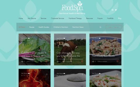 Screenshot of Blog foodspa.org.uk - Foodspa | Blog - captured Aug. 19, 2018