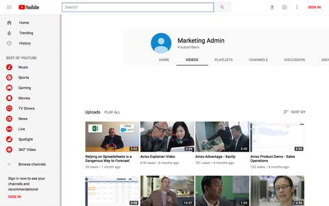 Marketing Admin - YouTube - YouTube