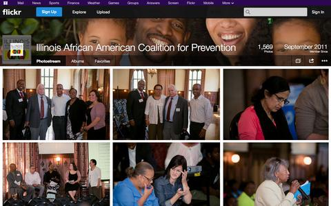 Screenshot of Flickr Page flickr.com - Flickr: Illinois African American Coalition for Prevention's Photostream - captured Oct. 23, 2014