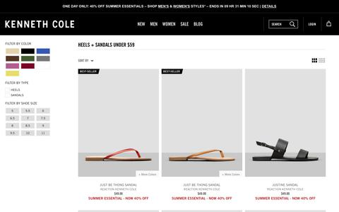 Heels + Sandals Under $59 | Kenneth Cole