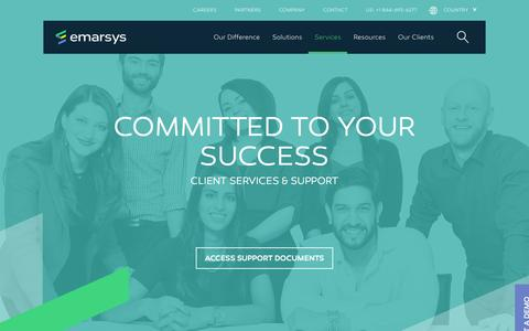 Screenshot of Services Page emarsys.com - Services - Emarsys B2C Marketing Cloud - captured Feb. 29, 2016