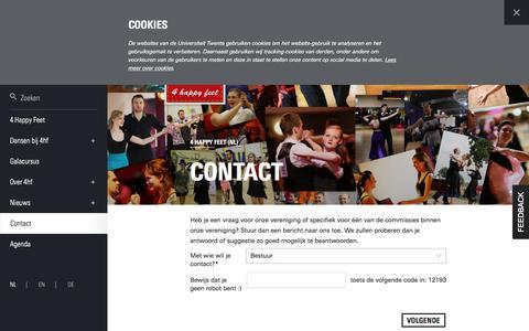 Screenshot of Contact Page utwente.nl - Contact | Contactformulier | 4 happy feet (NL) - captured Oct. 11, 2017