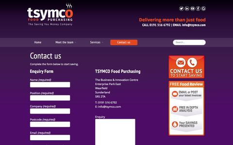 Screenshot of Contact Page tsymco.com - TSYMCO � The Saving You Money Company | Contact us - captured Jan. 12, 2016
