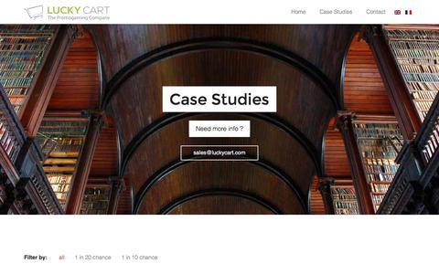 Screenshot of Case Studies Page luckycart.com - Case Studies | Lucky Cart - captured Oct. 28, 2014