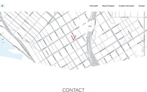 Screenshot of Contact Page visualant.net - Contact page – Visualant - captured May 9, 2017