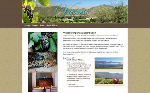 Screenshot of About Page Terms Page vincenti-imports.com - Vincenti Imports & Distribution - captured Oct. 25, 2014