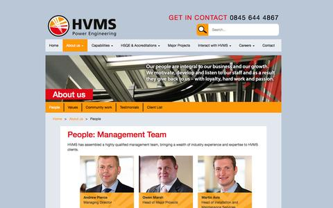 Screenshot of Team Page hvms.co.uk - People - HVMS - captured Oct. 28, 2014
