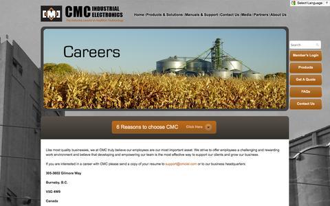 Screenshot of Jobs Page cmciel.com - Careers & Employment Opportunities   CMCIEL - captured Oct. 1, 2014