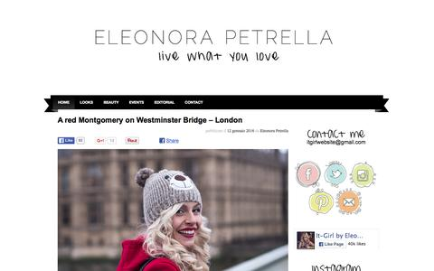 Screenshot of Contact Page it-girl.it - It-Girl by Eleonora Petrella - Fashion blogger, outfit, streetstyle e tendenze - captured Jan. 14, 2016