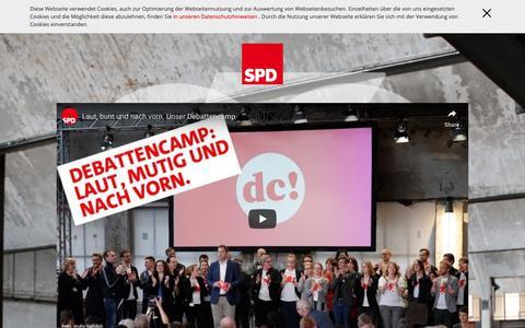 Screenshot of Home Page spd.de - Sozialdemokratische Partei Deutschlands (SPD) - captured Nov. 12, 2018
