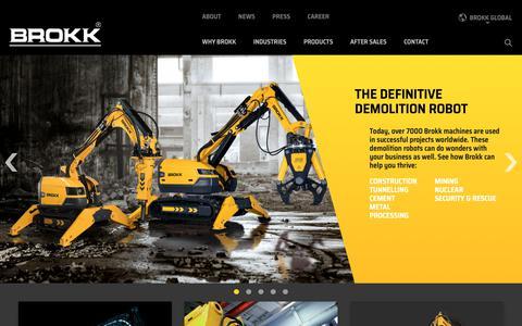 Screenshot of Home Page brokk.com - Home - Brokk Global - captured Oct. 6, 2018