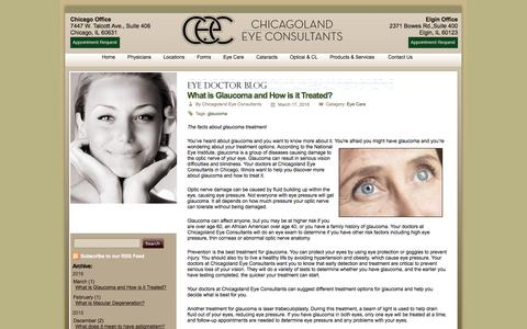 Screenshot of Blog chicagolandeyeconsultants.com - Eye Doctor Blog - Ophthalmologist in Chicago, IL - captured April 4, 2016