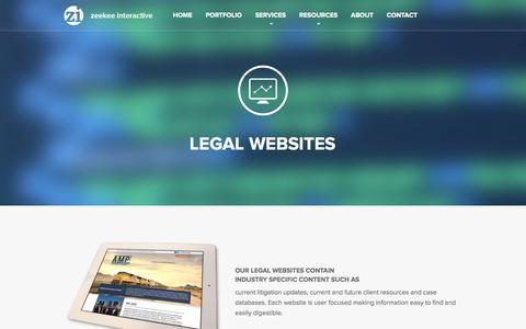 Screenshot of Terms Page zeekeeinteractive.com - Law Firms and Legal Website Design - captured Oct. 9, 2014