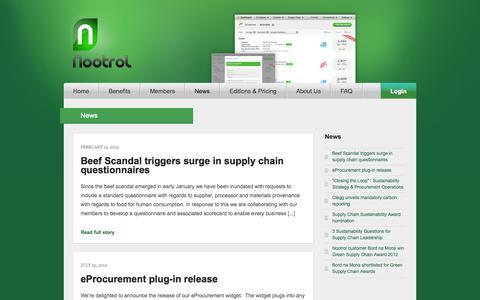 Screenshot of Press Page nootrol.com - News | Nootrol - captured Oct. 7, 2014