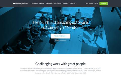 Screenshot of Jobs Page campaignmonitor.com - Careers | Campaign Monitor - captured Oct. 26, 2015