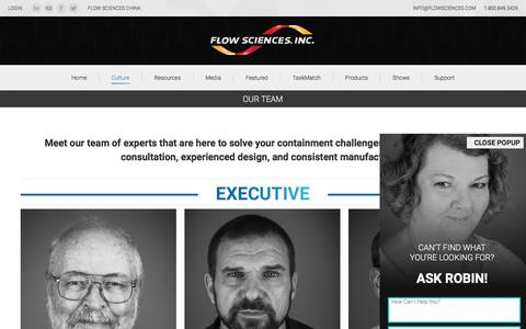 Screenshot of Team Page flowsciences.com - Our Team - Flow Sciences - captured Oct. 14, 2017