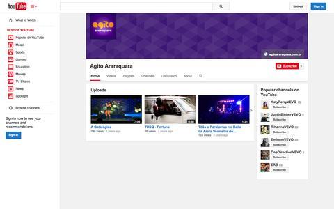 Screenshot of YouTube Page youtube.com - Agito Araraquara  - YouTube - captured Oct. 30, 2014
