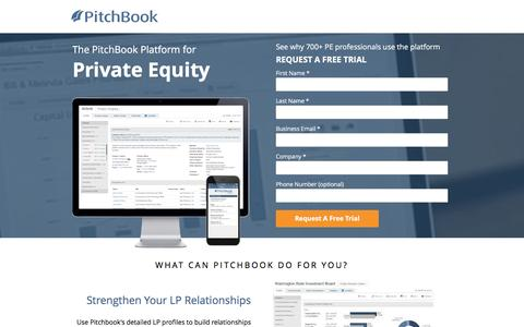 Screenshot of Landing Page pitchbook.com captured Feb. 8, 2017